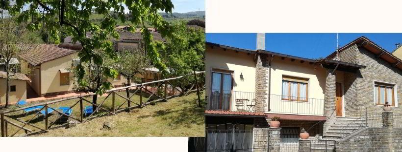 CASA VACANZE CHIANTI BEST HOUSE FACCIATA E GIARDINO